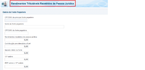 rendimentos pessoa jurídica completo IR 2016 - Reprodução - Reprodução