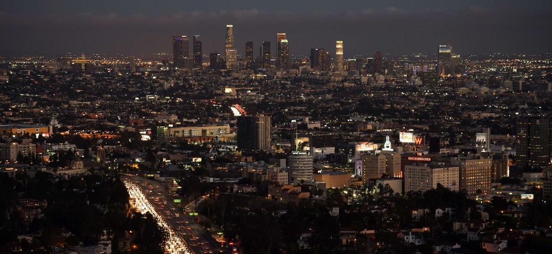 Vista do centro de Los Angeles - Mark Ralston/AFP Photo