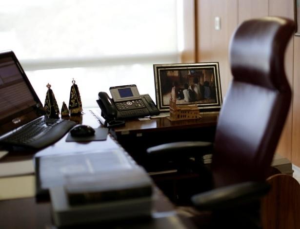 Mesa de trabalho de Dilma Rousseff no Palácio do Planalto