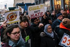 Antifa x Alt-Right: como a eleição de Trump está inflamando conflitos entre extrema-esquerda e extrema-direita nos EUA (Foto: Jake Naughton/The New York Times)