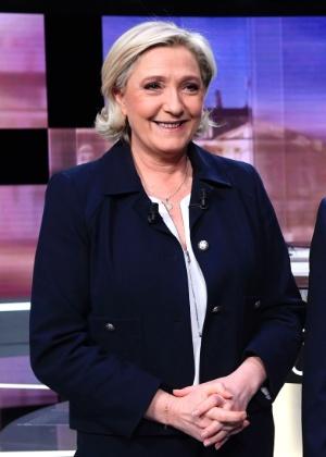 Os candidatos Marine Le Pen e Emmanuel Macron disputam a Presidência da França