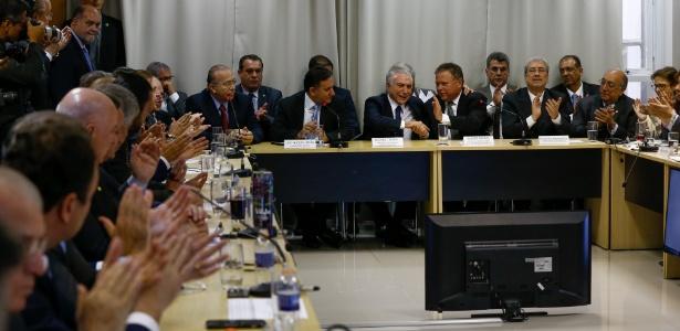 1º.ago.2017 - Presidente Michel Temer participa de reunião com ministros, senadores e deputados da Frente Parlamentar da Agropecuária