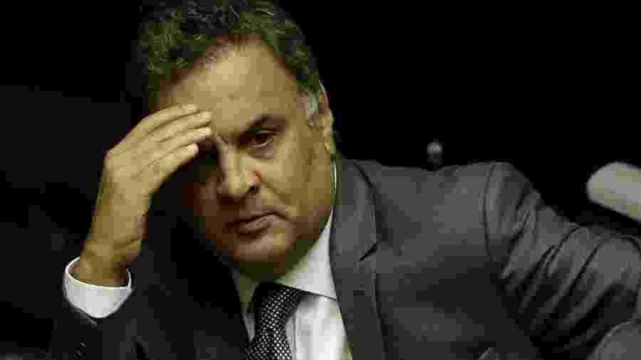 1º.fev.2019 - O ex-senador e deputado federal Aécio Neves (PSDB-MG) no plenário da Câmara - Pedro Ladeira/Folhapress