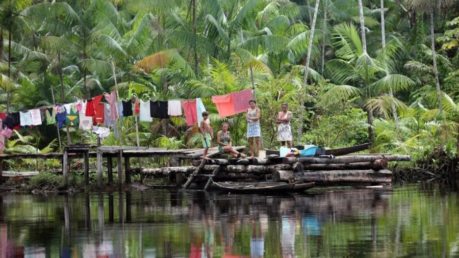 Rio Laguna, na comunidade São José, em Melgaço  - Marcelo Lelis/Agência Pará