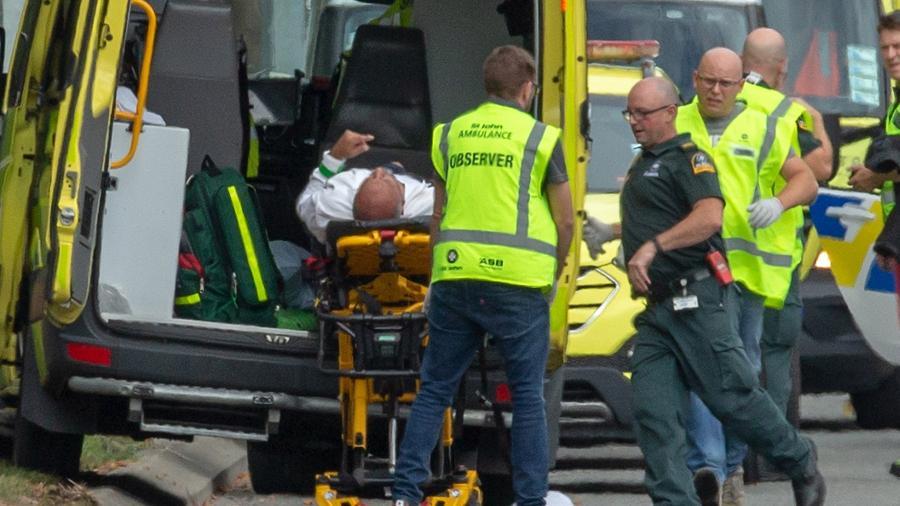 15.mar.2019 -  Ao menos 49 pessoas morreram após ataques a tiros contra duas mesquitas da cidade de Christchurch, na Nova Zelândia - Martin Hunter/EFE