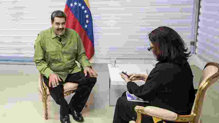 Nicolas Maduro e Monica Bergamo - Marlene Bergamo/Folhapress