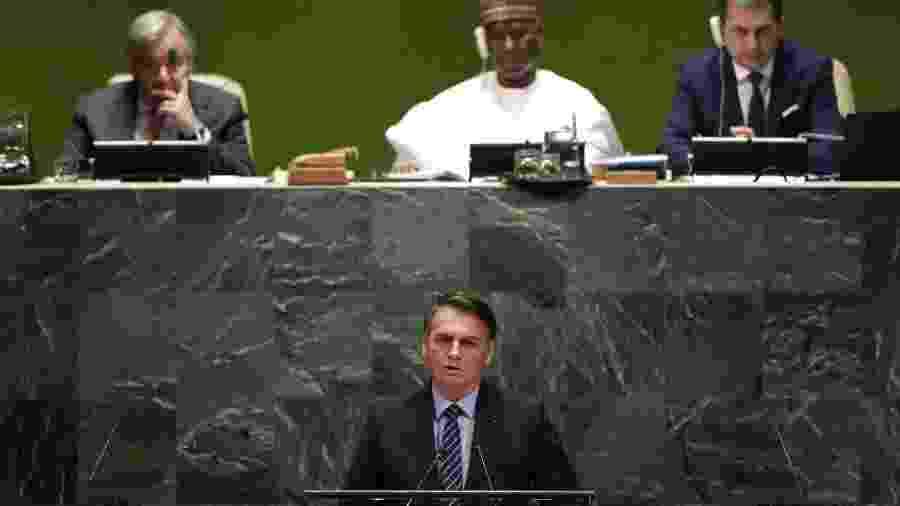 24.set.2019 - Bolsonaro na ONU - REUTERS/Lucas Jackson