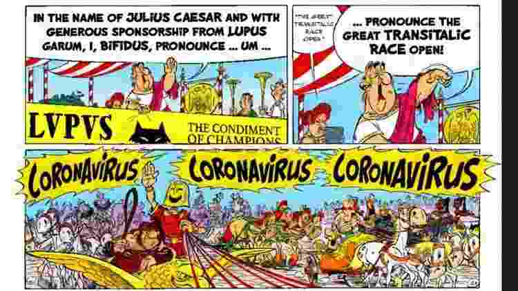 Coronavírus em Asterix & Obelix: termo não se referia à epidemia - Reprodução