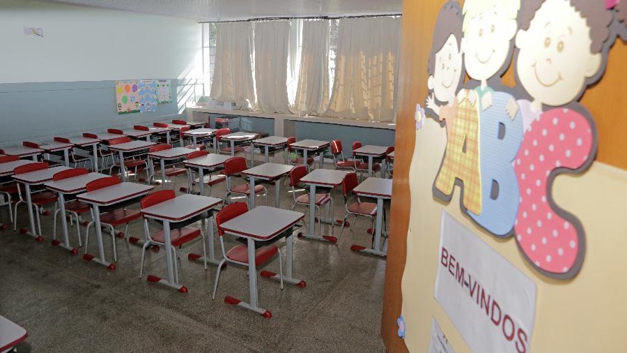 Esta é a segunda vez que o MPT realiza alguma medida legal contra a volta às aulas presenciais no Distrito Federal - Dirceu Portugal/FotoArena/Estadão Conteúdo