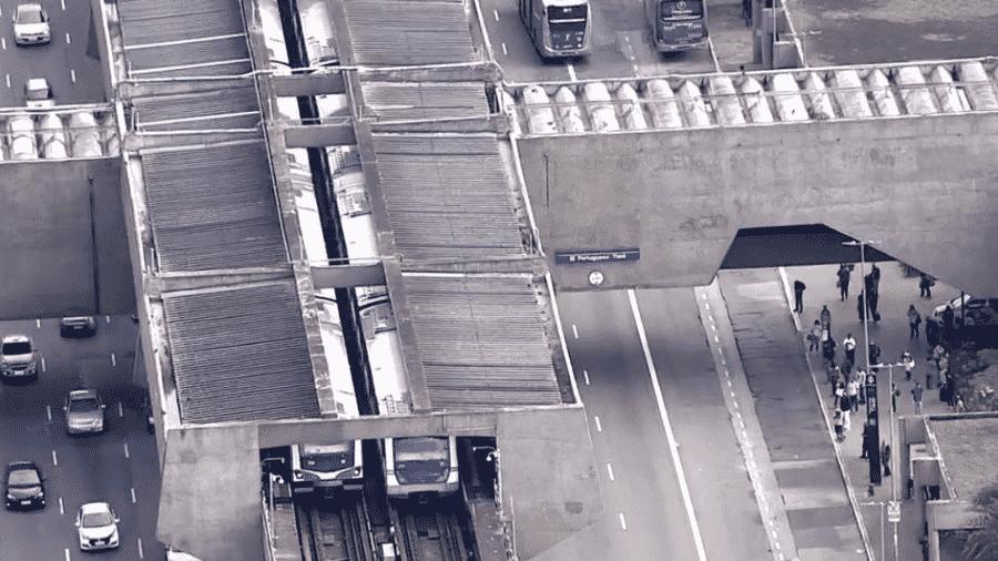 Linha 1-Azul do Metrô de São Paulo operou com velocidade reduzida por causa de usuário na via  - Reprodução/TV Globo
