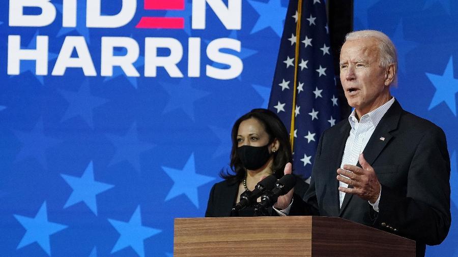 A posse de Joe Biden e Kamala Harris acontecerá na próxima quarta-feira (20) - Drew Angerer/Getty Images/AFP
