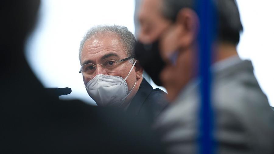 Marcelo Queiroga em depoimento à CPI da Covid - Edilson Rodrigues/Agência Senado