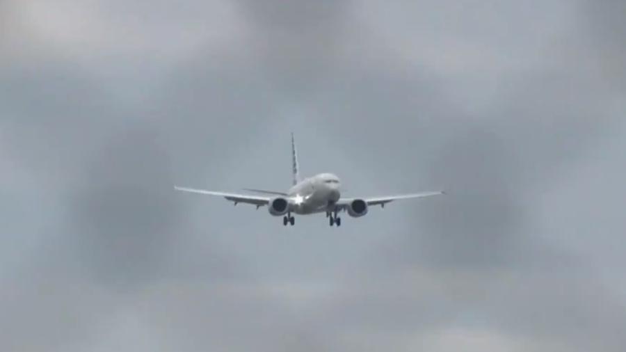 Imagem do voo da Delta que foi desviado nos EUA - Reprodução/Twitter