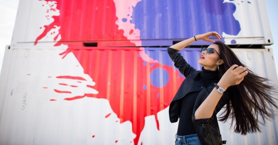 O que tem mais beleza: o coração grafitado na parede ou a linda Huong Pham, Miss Vietnam 2015? A disputa do Miss Universo 2015 ocorre na noite deste domingo (20), em Las Vegas, nos Estados Unidos