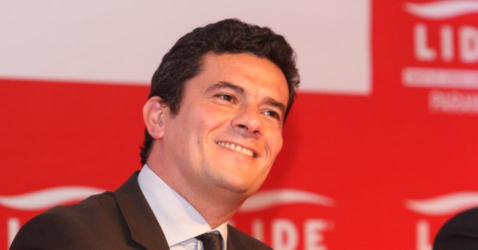 O juiz Sérgio Moro participa de evento com empresários em Curitiba