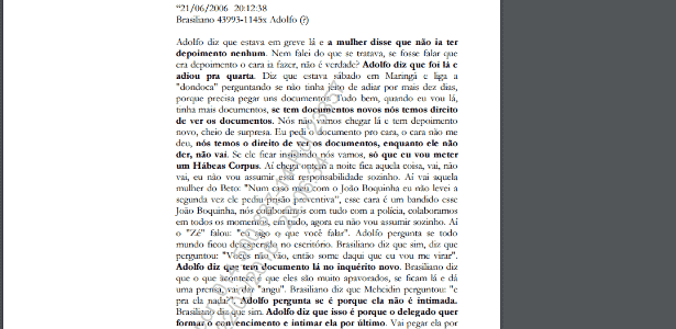 Conversa entre Adolfo Góis e Roberto Brasiliano deu origem a investigação que desaguaria na Lava Jato - Reprodução/UOL