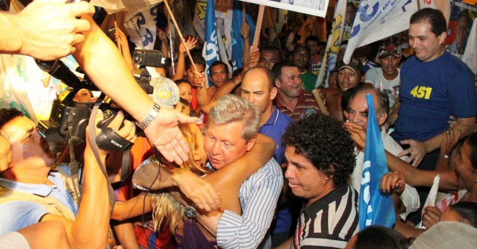 MAIS UMA DERROTA - Virgílio Neto viria a sofrer mais uma derrota em 2010. Na tentativa de se reeleger para o Senado, ficou também em terceiro lugar - os eleitos foram Eduardo Braga (PMDB) e Vanessa Grazziotin (PCdoB)