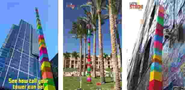 """No """"Let's Stack AR"""", o jogo capta o cenário pela câmera do celular - Reprodução - Reprodução"""