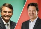 Datafolha: Bolsonaro tem 44% de rejeição, e Haddad, 52% - Arte/UOL