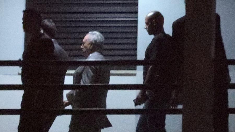 O ex-presidente Michel Temer nas instalações da Polícia Federal no Rio de Janeiro - Ricardo Moraes/Reuters