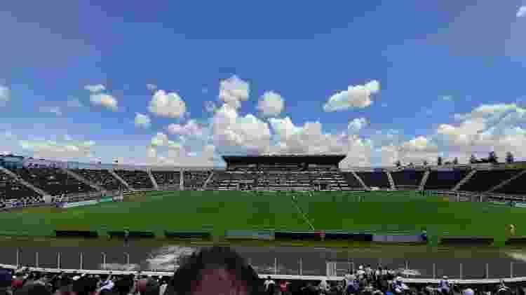 Foto do Limeirão, estádio da Inter de Limeira, com a lente grande angular do Galaxy A50 - Gabriel Francisco Ribeiro/UOL
