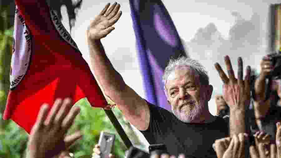 Lula foi solto na sexta-feira após 580 dias preso na Polícia Federal em Curitiba - Getty Images