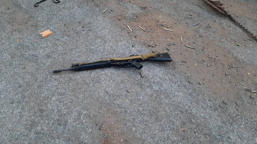 8.fev.2020 - Arma que teria sido utilizada em ataque feito por soldado na Tailândia - Xinhua