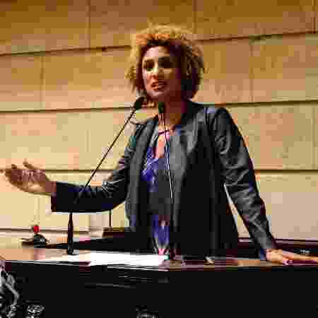 Marielle discursa na Câmara Municipal do Rio em 2018 - RENAN OLAZ/AFP - RENAN OLAZ/AFP