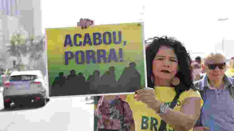 Manifestante anti-STF - Saulo Angelo/Estadão Conteúdo - Saulo Angelo/Estadão Conteúdo