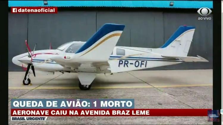 Aeronave - Campo de Marte - Reprodução/YouTube - Reprodução/YouTube