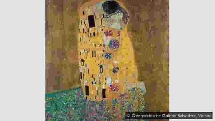 O Beijo, de Gustav Klimt - ÖSTERREICHISCHE GALERIE BELVEDERE, VIENA - ÖSTERREICHISCHE GALERIE BELVEDERE, VIENA