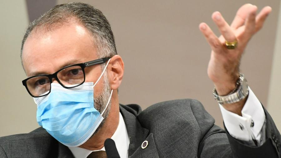 Diretor-presidente da Anvisa, Antonio Barra Torres, na CPI da Covid - Jefferson Rudy/Agência Senado