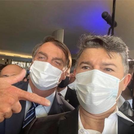 Deputado José Medeiros (Podemos-MT) e o presidente Jair Bolsonaro - Reprodução