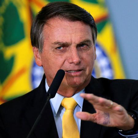 O presidente Jair Bolsonaro (sem partido), durante discurso em 2020 - Adriano Machado/Reuters
