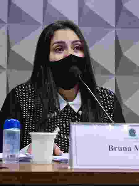 A advogada Bruna Morato, que representa médicos da Prevent Senior, durante depoimento à CPI da Covid - Roque de Sá/Agência Senado - Roque de Sá/Agência Senado