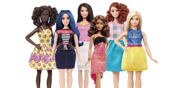 Novas bonecas têm versão com curvas, mais altas e com proporções menores - Divulgação