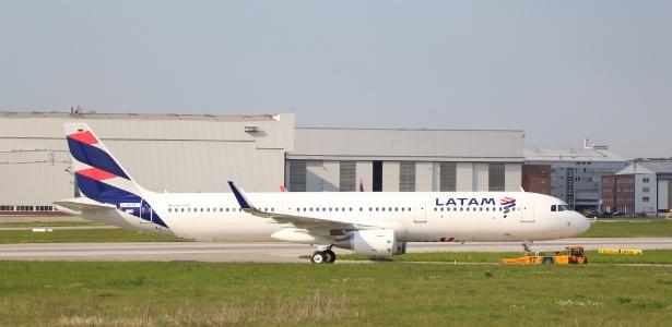 Modelo de avião semelhante ao utilizado pela Latam para o voo JJ8030