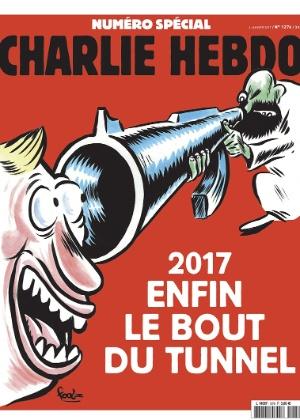 """3.jan.2017 - Foto de divulgação da capa de edição especial da revista satírica """"Charlie Hebdo"""""""