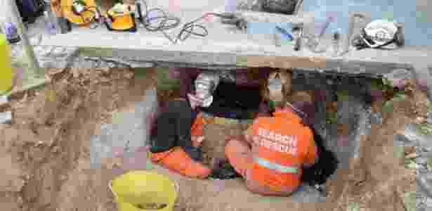 Polícia só descobriu a fossa graças a comentário de uma vizinha - Tania Butler / Polícia de Hertfordshire / PA Wire - Tania Butler / Polícia de Hertfordshire / PA Wire