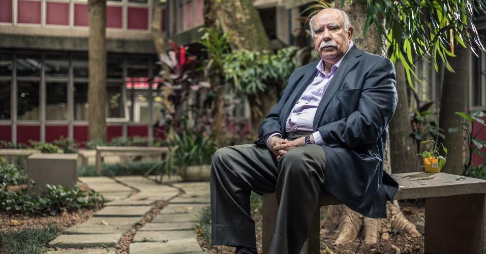6.fev.2018 - O sociólogo José de Souza Martins, professor emérito da USP (Universidade de São Paulo), durante entrevista no departamento de sociologia da USP