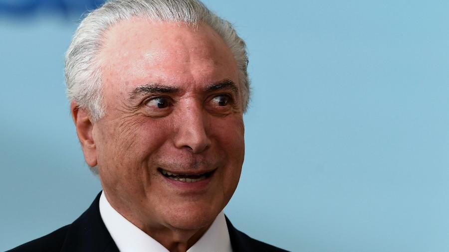 27.mar.2018 - Presidente Michel Temer durante cerimônia no Palácio do Planalto - Evaristo Sá/AFP Photo