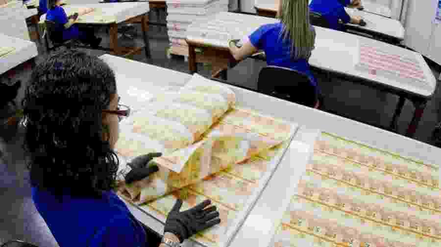Cédulas de Real são fabricadas na Casa da Moeda (24.jul.2012) - Fernando Frazão/Folhapress