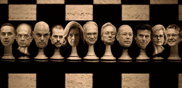 UOL ouviu especialistas para entender as regras e estratégias do xadrez do STF - Arte UOL