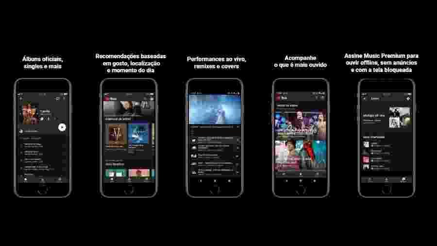 YouTube Music, serviço da plataforma em streaming de música - Divulgação