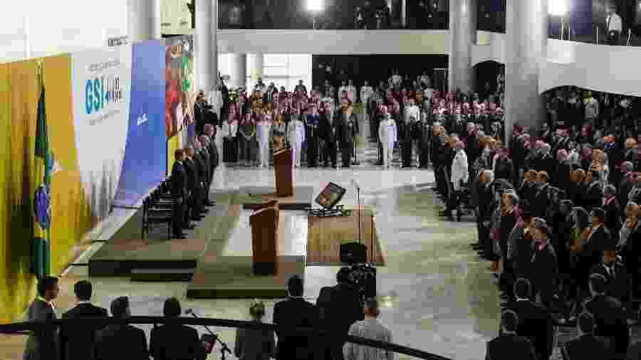 Cerimônia em homenagem aos 80 Anos de História do GSI, no Palácio do Planalto, com presença do presidente Michel Temer e futuros ministros de Bolsonaro - Clauber Cleber Caetano/PR
