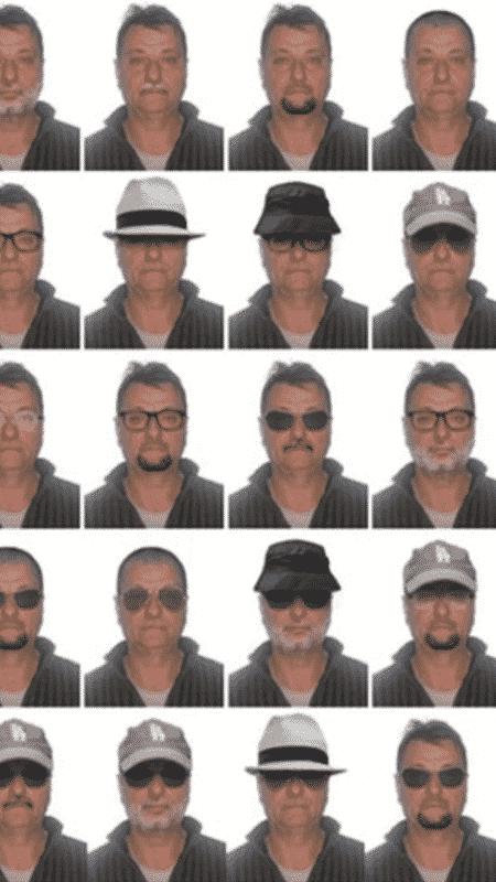 Polícia Federal divulgou imagens de possíveis disfarces do terrorista Cesare Battisti - Divulgação/Polícia Federal - Divulgação/Polícia Federal
