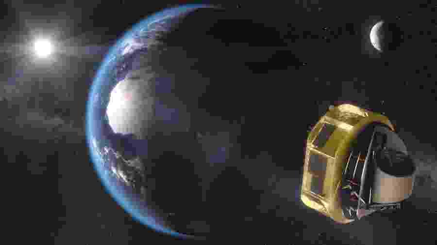 O telescópio espacial Ariel vai estudar planetas em torno de outras estrelas - ESA/STFC RAL Space/UCL/Europlanet-Science Office