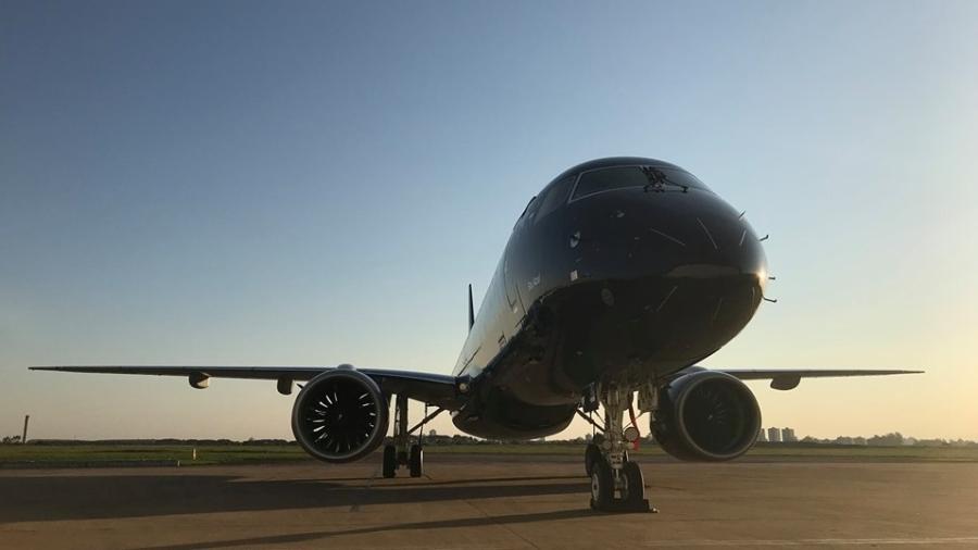Aeronave da Embraer - Reprodução - 11.set.2019/Facebook/Embraer