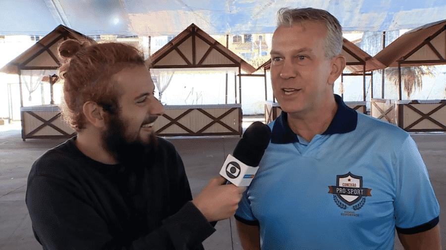 Gunther Schweitzer é entrevista pelo Cartolouco no SporTV - Reprodução