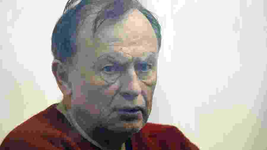 Historiador russo Oleg Sokolov, acusado de ter matado uma aluna com quem mantinha um relacionamento - Olga Maltseva/AFP